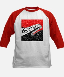Red and black music theme Baseball Jersey