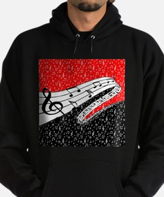 Red and black music theme Sweatshirt