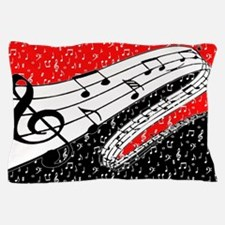 Red and black music theme Pillow Case