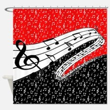 Music Shower Curtains Music Fabric Shower Curtain Liner