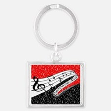 Red and black music theme Keychains