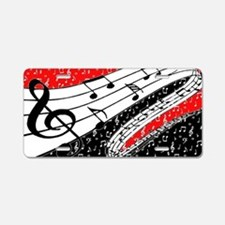 Red and black music theme Aluminum License Plate