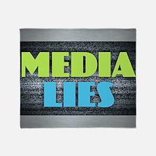 MEDIA LIES Throw Blanket