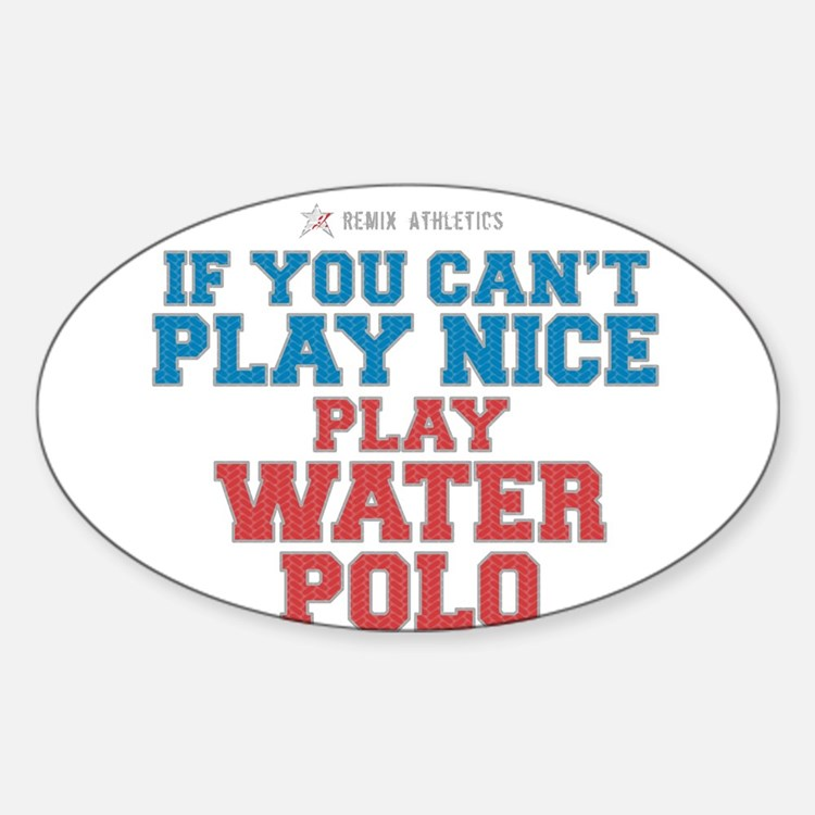 Water Polo Slogan Rectangle Decal