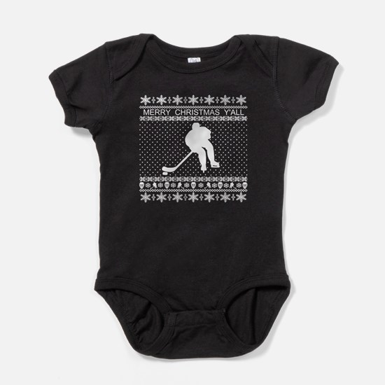 Ugly Hockey Xmas Sweater Body Suit