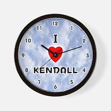 I Love Kendall (Black) Valentine Wall Clock