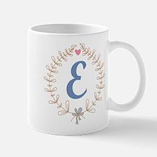 E Monogram Wreath Mug