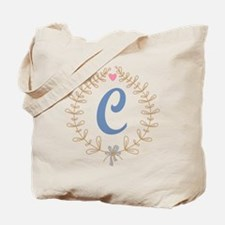 C Monogram Wreath Tote Bag