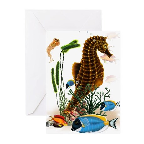Seahorses Greeting Cards (Pk of 10)