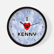 I Love Kenny (Black) Valentine Wall Clock