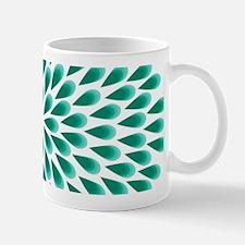 Aqua Peacock Mandala Mugs