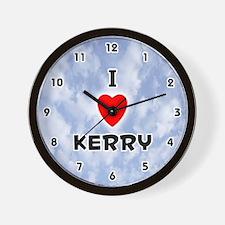 I Love Kerry (Black) Valentine Wall Clock