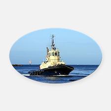 Tugboat Tingari, Australia Oval Car Magnet
