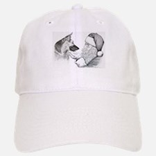 German Shepherd and Santa Baseball Baseball Baseball Cap