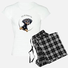 Black Tan Dachshund Lover Pajamas