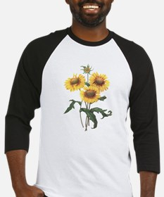 Redoute Sunflowers Baseball Jersey