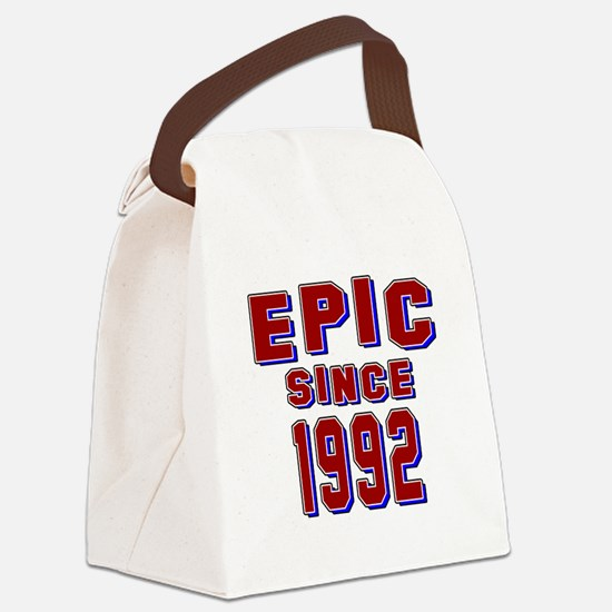Epic Since 1992 Birthday Designs Canvas Lunch Bag