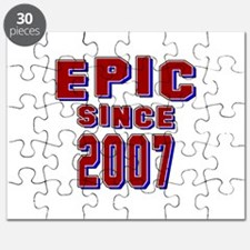 Epic Since 2007 Birthday Designs Puzzle