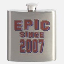 Epic Since 2007 Birthday Designs Flask