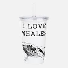 I Love Whales Acrylic Double-wall Tumbler