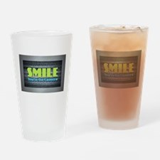 Smile You're On Camera Drinking Glass