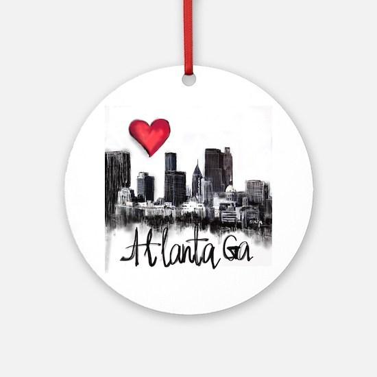 Cute Atlanta city Round Ornament