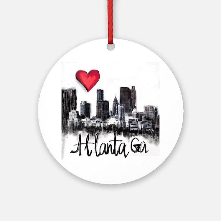 Cute Atlanta Round Ornament