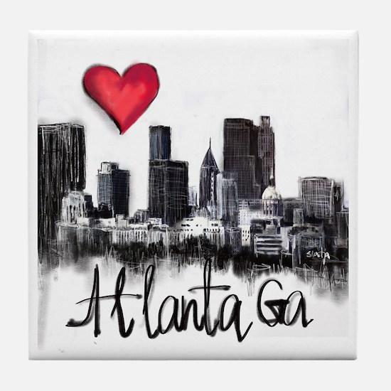 Cute City of atlanta Tile Coaster