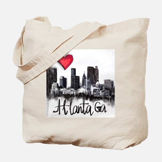 Unique I love atlanta Tote Bag