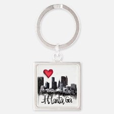 Cute Atlanta georgia Square Keychain