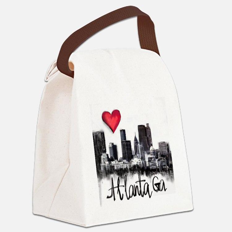 Cute Atlanta Canvas Lunch Bag