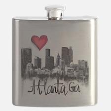 Cute I love georgia Flask