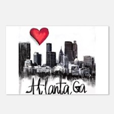 I love Atlanta Postcards (Package of 8)