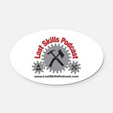 Lost Skills Podcast Logo 1 Oval Car Magnet