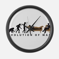 Evolution Therapist Psychologist Large Wall Clock