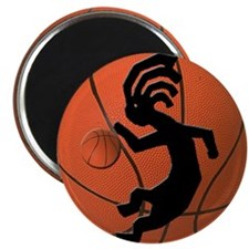 Kokopelli Basketball Magnet