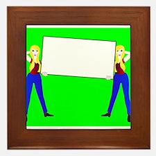 Sign Girls Framed Tile