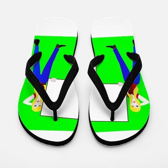 Sign Girls Flip Flops