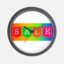 Sale Sign Wall Clock