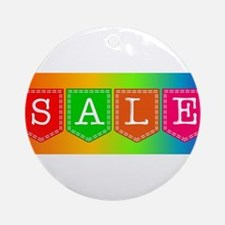 Sale Sign Round Ornament