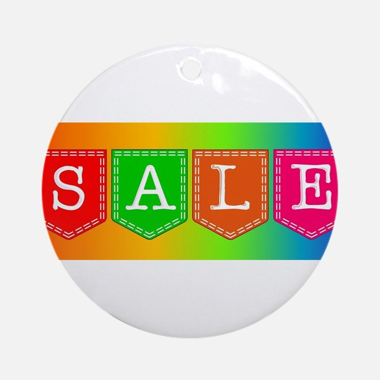 Sale Sign Round Ornament