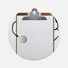 Medical Clipboard Round Ornament