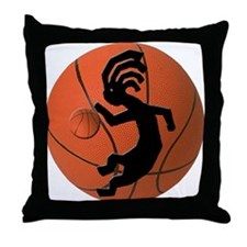 Kokopelli Basketball Throw Pillow