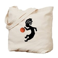 Kokopelli Basketball Tote Bag