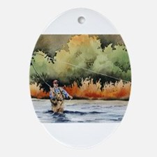 Fishing Oval Ornament