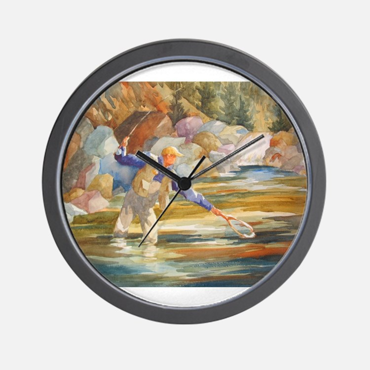 Fresh water fishing clocks fresh water fishing wall for Fish wall clock