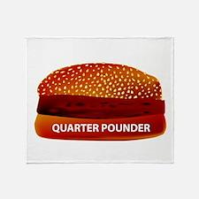 Quarter Pounder Throw Blanket