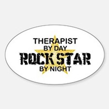 Therapist Rock Star Oval Decal