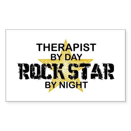 Therapist Rock Star Rectangle Sticker