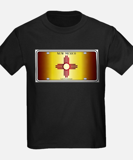 New Mexico Flag License Plate T-Shirt